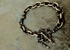"Rococo Mantel Brass Chain Bracelet ""Triple Point"""