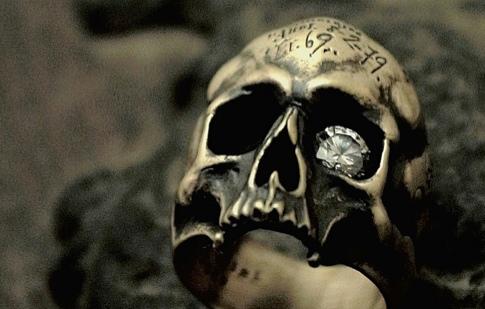ブラス×クリアー【Mement Skull Ring】