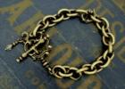 "Rococo Mantel Brass Chain Bracelet ""Point"""