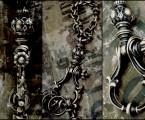 アンティークをイメージさせる装飾【Antique Shackle Keychain】