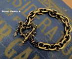 "Point Parts A【Rococo Mantel Brass Chain Bracelet ""Point""】"