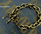 "Point Parts B【Rococo Mantel Brass Chain Bracelet ""Point""】"