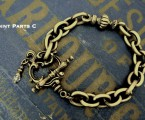 "Point Parts C【Rococo Mantel Brass Chain Bracelet ""Point""】"