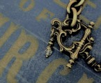 """マンテルパーツ【Rococo Mantel Brass Chain Bracelet """"Point""""】"""