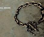 """オールブラス製【Rococo Mantel Brass Chain Bracelet """"Triple Point""""】"""