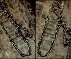 """Antique Shackle Keychainとの連結【Brass Short Walletchain """"Point""""】"""