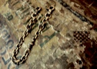 "Brass Short Walletchain ""Point"""