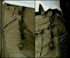 ベルト、ベルトループ両方に取り付けられるチェーンフック式【Faith Keychain】
