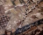 """チェーン自体がデザインされていてそのまま着けられるネックレス【Point Necklace """"Glass""""】"""