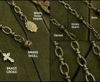 チャーム3種類、石3種類【Double Roll Chain Bracelet】