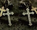 両面に戒めの文字【Admotition Cross Necklace】