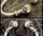 Antique Skull Bangle ALL SILVERとSILVER&BRASS