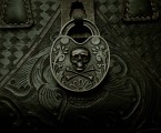 Antique Skull&Bones Padlock Reproduction